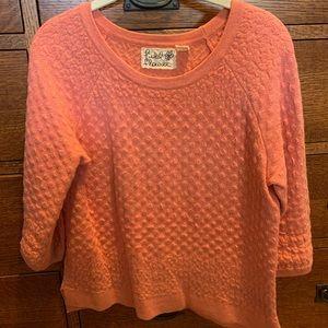 Field Flower Peach/Orange sweater